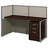 60W Straight Desk Open Office with Mobile File Cabinet