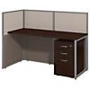 60W Straight Desk Open Office with 3 Drawer Mobile Pedestal