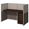 60W Straight Desk Closed Office with 3 Drawer Mobile Pedestal