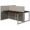 60W Two Person Straight Desk Open Office