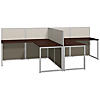 60W Two Person L Shaped Desk Open Office