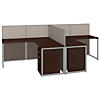 60W 2 Person L Desk Open Office with 3 Drawer Mobile Pedestals
