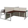 60W 4 Person L Shaped Desk Open Office