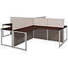 60W 4 Person L Shaped Desk Open Office
