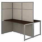 60W 2 Person Desk with 66H Cubicle Panel