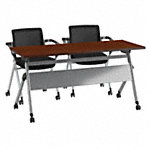 60W x 24D Folding Training Table with Set of 2 Folding Chairs