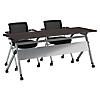 72W x 24D Folding Training Table with Set of 2 Folding Chairs