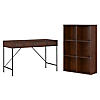 48W Writing Desk and 6 Cube Bookcase