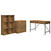 48W Writing Desk, 6 Cube Bookcase, and Lateral File Cabinet