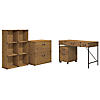 48W Writing Desk, Mobile Pedestal, Bookcase, and Lateral File Cabinet