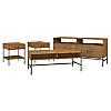 TV Stand with Coffee Table and 2 End Tables