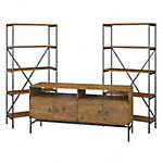 60W TV Stand with Bookcases