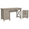 54W Computer Desk with Storage and 2 Drawer Mobile File Cabinet
