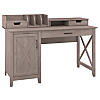 54W Computer Desk with Storage and Desktop Organizers