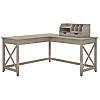 60W L Shaped Desk with Desktop Organizers