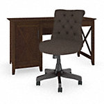 54W Computer Desk with Mid Back Tufted Office Chair