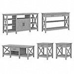 Tall TV Stand with Coffee Table, Console Table and Set of 2 End Tables