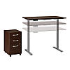 48W x 24D Height Adjustable Standing Desk with Storage