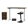 60W Height Adjustable Desk with Storage and Accessories