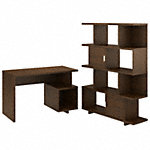 48W Writing Desk with Etagere Bookcase