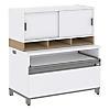 36W x 24H Storage Cabinet with 36W Hutch