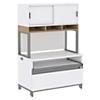 36W x 24H Storage Cabinet with 36W Hutch on Riser