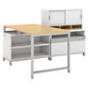 60W x 30D Floating Desk, Open and Closed Storage with Hutch