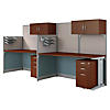 2 Person Straight Workstations with Storage