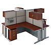 4 Person L Workstations with Storage