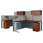 2 Person L Shaped Cubicle Workstations