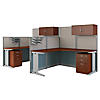 2 Person L Workstations with Storage