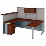 U Shaped Reception Desk with Storage