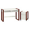 48W x 24D Writing Desk with 2 Drawer Mobile File Cabinet