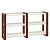 Scandinavian Style Console Table with Shelves