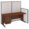 72W C-Leg Desk with Panels and 3/4 Pedestal