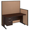 60W C Leg Desk with Panels and 3/4 Pedestal
