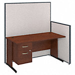 60W C Leg Desk with 3/4 Pedestal and ProPanels