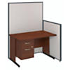 48W C-Leg Desk with Panels and 3/4 Pedestal