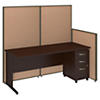 72W C Leg Desk and 3 Drawer Mobile Pedestal with ProPanels