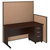 60W C Leg Desk and 3 Drawer Mobile Pedestal with ProPanels