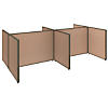 4 Person Open Cubicle Configuration