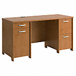 58W Office Desk with 2 Pedestals