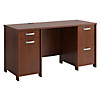 58W Double Pedestal Desk Kit