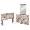 6 Drawer Dresser with Mirror and Full/Queen Size Headboard