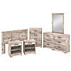 6 Piece Full/Queen Size Bedroom Set