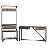 Entryway Storage Set with Shoe Bench, Hall Tree and Console Table