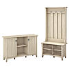 Entryway Storage Set with Hall Tree, Shoe Bench and Accent Cabinet