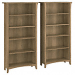 Tall 5 Shelf Bookcase - Set of 2