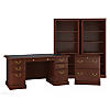 Executive Desk, Lateral File Cabinet and Two 5 Shelf Bookcases