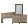 Dresser with Mirror and Full/Queen Size Headboard